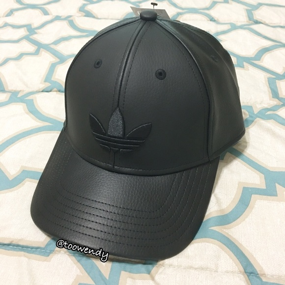 029bd8e374267d adidas Accessories | Originals Leather Baseball Snapback Hat | Poshmark